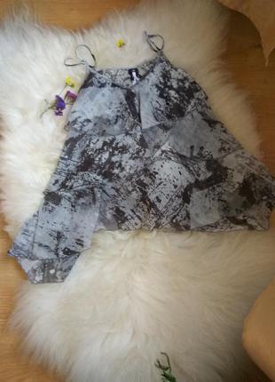 Топ блуза с воланами