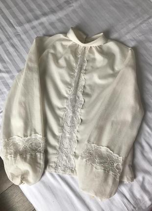 Винтажная блуза wohey modelle