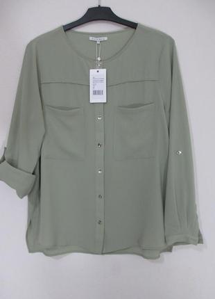 Стильная женская рубашка блузка р.xl немецкого бренда mint&berry
