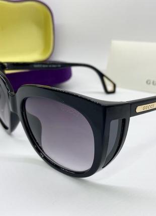 Женские солнцезащитные очки чёрные жіночі окуляри