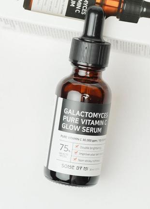 💛сыворотка для лица с галактомисисом и витамином c some by mi glow serum - 30 мл