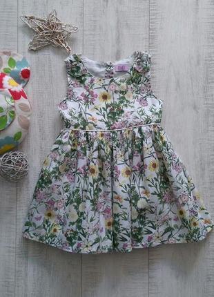Платье хлопок цветочный принт f&f на1-1/5 года