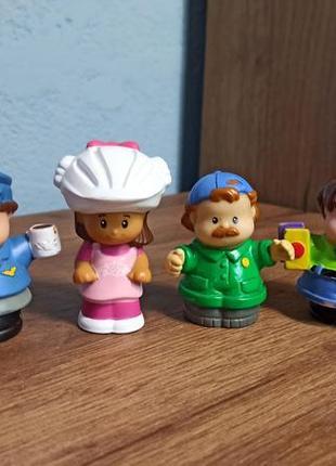 Винтажные брендовые фигурки человечков little people fisher-price mattel сша оригинал