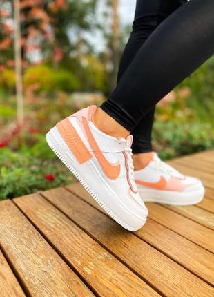 "Nike air force shadow ""white corall pink""🆕шикарные кроссовки найк🆕купить наложенный платёж"