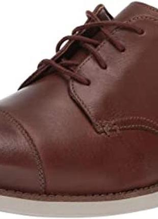 Кожаные легкие туфли clarks us12/ 46. новые