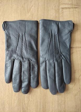 Новые мужские кожаные перчатки на шерстяной подкладке, р.8,5