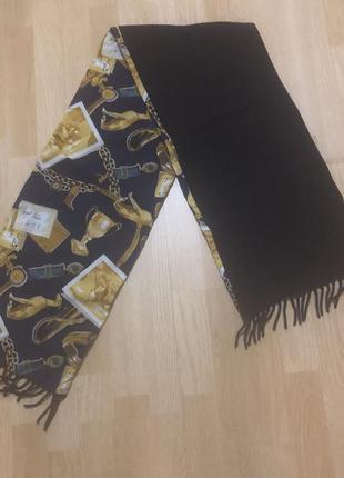Trussardi шикарный шарф кашемир- котон- шёлк trussardi & jeans