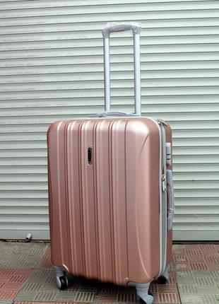 Чемодан ,средний чемодан, пластиковый чемодан, женский чемодан, валiза