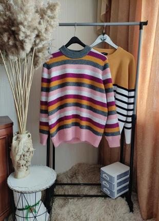 Радужный свитер джемпер tu батал