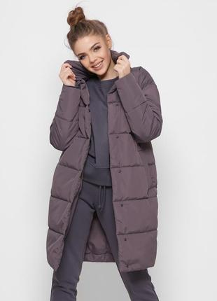 Стеганая куртка-пальто с поясом разные цвета