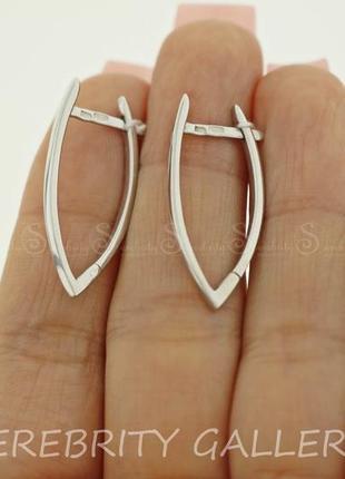Серьги серебряные e 2665p rd серебро 925 сережки срібні