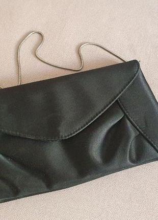 Черный клатч багет accessorize