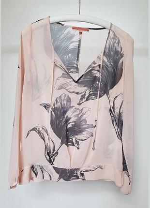 Next полупрозрачная блузка блуза с длинным рукавом