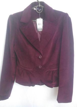 Шикарнейший пиджак винного цвета!
