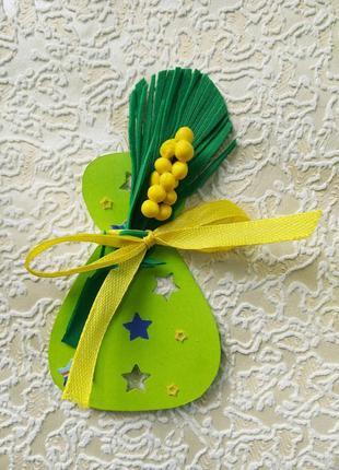 Подарок к покупке свечей,лаванды-сувенир к 8 марта, весенний декор, открытка