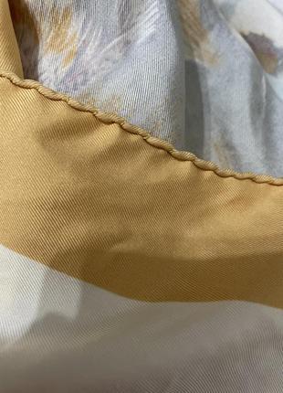 Платок винтажный hermes-paris,rare.анри де линарес 1960-е.,100% шёлк.3 фото