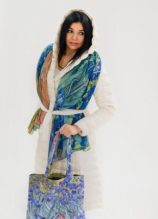 Шарф та сумка іриси ван гог2 фото