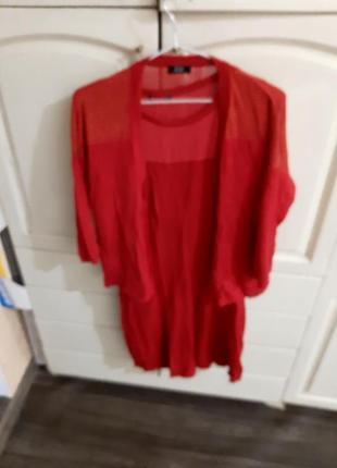 Костюм платье и кофта р 14, цвет красный