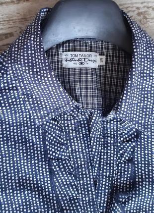 Хлопковая рубашка в мелкий горошек2 фото