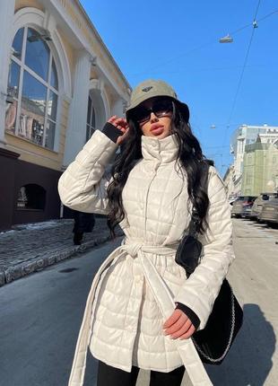 Женская стёганная  куртка из эко-кожи ( весна 2021)2 фото