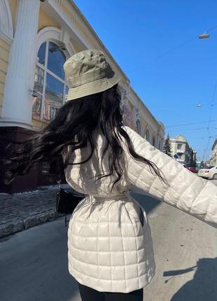 Женская стёганная  куртка из эко-кожи ( весна 2021)3 фото