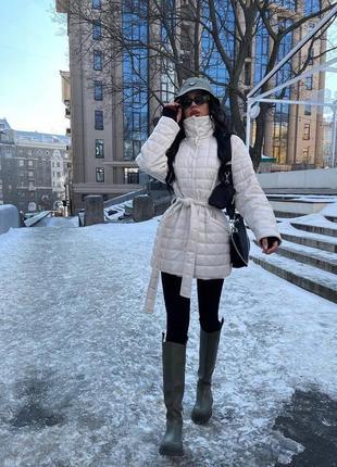 Женская стёганная  куртка из эко-кожи ( весна 2021)6 фото