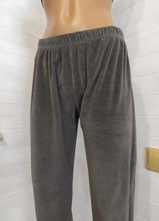 Красивые велюровые спортивные штаны, есть небольшой-незаметный брак5 фото