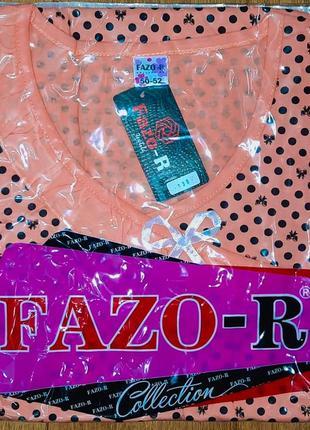 Ночнушка, нічна сорочка, ночная рубашка fazor 50-58р.3 фото