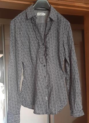 Хлопковая рубашка в мелкий горошек5 фото