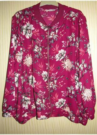 Розовый бомбер блузон тм 'george' р-р 24 uk, 52 eur, 56-58 rus2 фото