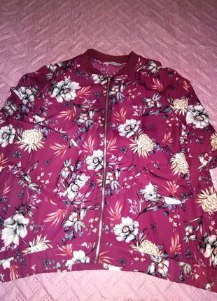 Розовый бомбер блузон тм 'george' р-р 24 uk, 52 eur, 56-58 rus3 фото