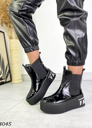 Ботинки на платформе4 фото