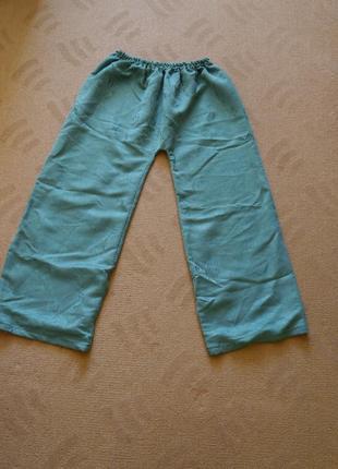 Брюки-штани зелені як самошиті на розмір 52-56 на резинці1 фото