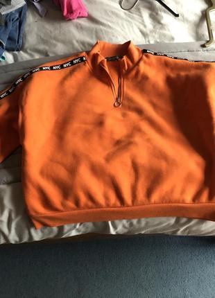 Худи кофта свитшот свитер реглан джемпер укороченый оверсайз xl xxl primark 14/16р3 фото