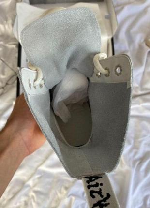Женские зимние ботинки dr. martens jadon white cream6 фото