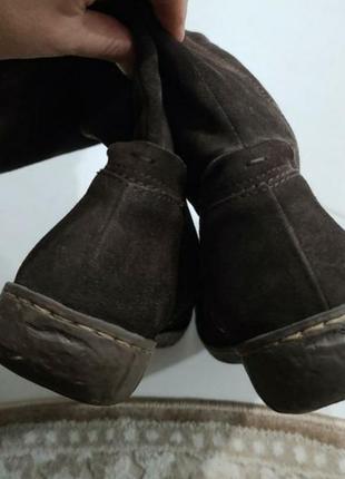 Жіночі натуральні замшеві чоботи в ідеальному стані.3 фото