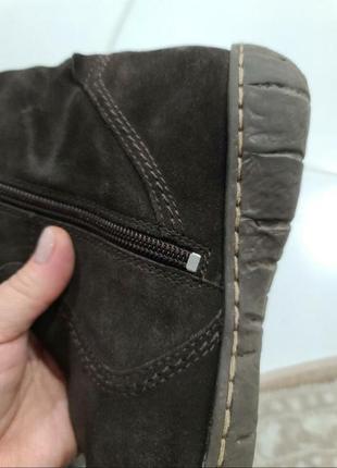 Жіночі натуральні замшеві чоботи в ідеальному стані.7 фото