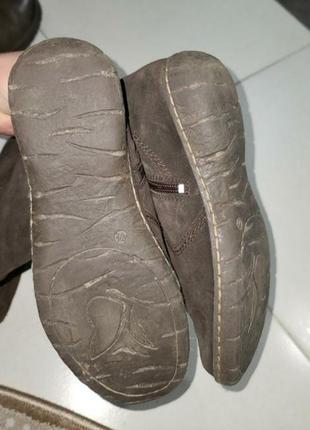 Жіночі натуральні замшеві чоботи в ідеальному стані.4 фото