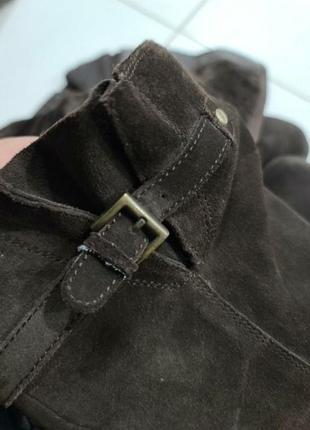 Жіночі натуральні замшеві чоботи в ідеальному стані.8 фото