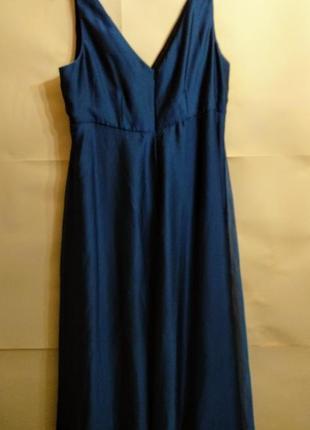 Шикарное переливающееся макси платье 20/54-56 размера4 фото