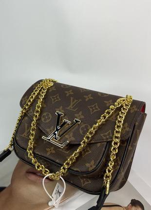 Женская сумка на и через плечо жіноча сумочка на цепочке кросс-боди5 фото