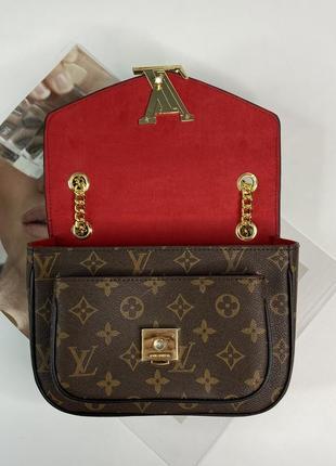 Женская сумка на и через плечо жіноча сумочка на цепочке кросс-боди7 фото