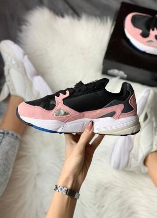 Женские стильные весенние кроссовки adidas falcon pink3 фото