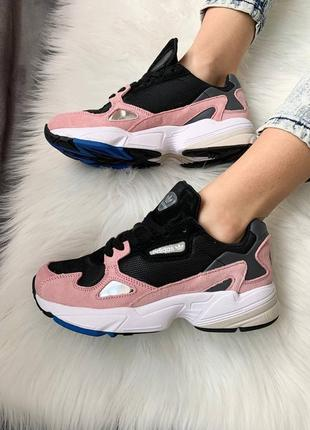 Женские стильные весенние кроссовки adidas falcon pink7 фото