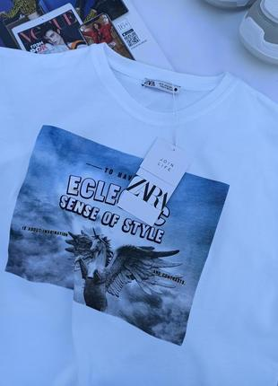 Стильная футболка zara6 фото