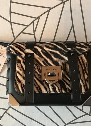 Michael michael kors manhattan, сумка через плече, принт (зебра)🌈💐🌹 стильний львів2 фото
