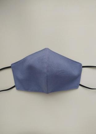 Голубая многоразовая маска3 фото