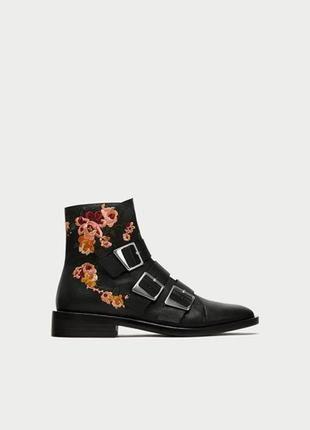 Нереально крутые кожаные ботинки zara ❤1 фото
