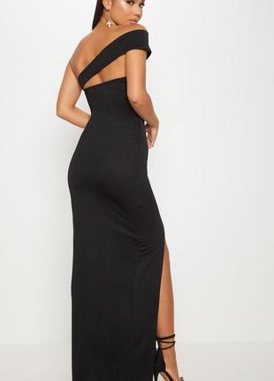 Роскошное длинное платье 🔥prettylittlething🔥 вечернее платье макси открытые плечи3 фото