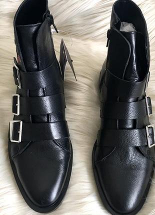 Нереально крутые кожаные ботинки zara ❤2 фото